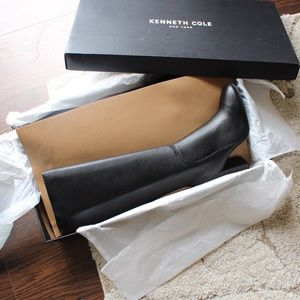 ✨NEW $200 Kenneth Cole Justin Black Leather Boots